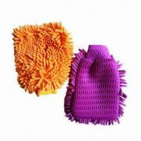 Cleaning Gloves/Microfiber Gloves, Various Colors/Sizes Available, Customized Orders are Accepted Manufactures