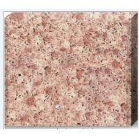 China Pink Crystal Engineered Quartz Tile , Solid Polished Quartz Kitchen Countertops on sale