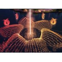 Outdoor Floating Water Feature Fountain With RGB Led Lighting / Fire Spray Manufactures