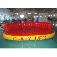 5 Person Towable Water Tubes Inflatable Crazy UFO Inflatable Sports Water Games Manufactures