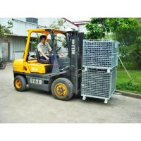 Hot Dipped Galvanized Foldable Stacking Wire Mesh Boxes For Transport Manufactures