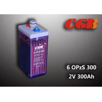 12V 6 OPzS300 Wind Solar Power Telecom Application Tube ABS Battery Manufactures