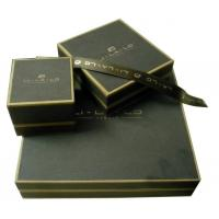 Recyclable Keepsake Gift Boxes Dark Cafe Pearl Paper PVC Mould Satin linging Manufactures