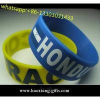 Quality printed logo OEM silicone wristband bulk cheap custom silicone bracelet for sale