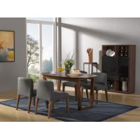 2016 New Nordic Design Dining Room Furniture sets by Walnut wood table with Fabric upholstered Chair with Buffet cabinet Manufactures