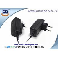 EU PIN 12V Power Adapter 1.25A Low Ripple 50Hz With Black / White Color Manufactures