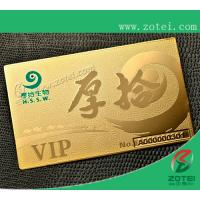Quality gold card,80*50*0.36mm for sale