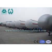 Heavy Duty Tank LPG Semi Trailer For Gas Delivery Reliable Structure Manufactures