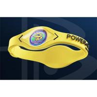 China Power balance silicon bracelet Yellow XS S M L XL Available on sale