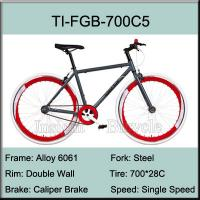 700C Aluminium Alloy Fixed Gear Bike / Alloy 6061 Track Bicycle Manufactures
