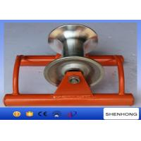 Abrasion Resistant Cable Pulling Pulley Lightweight Ground Cable Pulling Rollers Manufactures