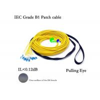 Buy cheap Pre Terminated Fiber Optic Patch Cables 24F SM 9 / 125 LC - LC With Pulling Eye from wholesalers