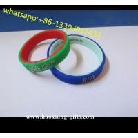 China Advertising Top Quality Cheap Silicone Bracelet With Screen Printing logo on sale