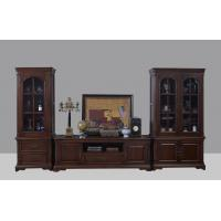 Quality American Antique Living leisure room furniture sets Wooden TV wall unit set by for sale