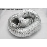 """Quality Aluminum foils / polyester straight and smooth aluminum flexible air duct 2"""" - 20"""" for sale"""