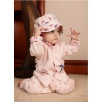 Toddler Cotton Three Piece Suit , Pink Cotton Clothes / Garments For Babies Manufactures