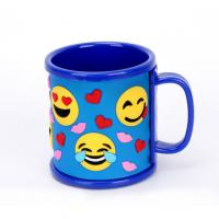 Promotional Emoji Soft Touch PVC Logo Wrapped On Plastic ABS Mug For Children's Pencil Vase Manufactures
