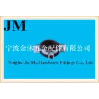 33 mm - 36 mm Diameter Galvanized Rubber Pipe Clamps 1 Inch Size FCC / SGS Manufactures