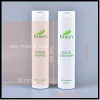 Quality 300ml PE Hose Clamshell Shampoo Bottles Cosmetic Lotion Shower Gel Empty Container for sale