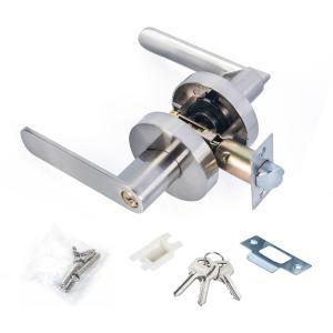Satin Nickel Lever Set Lock Living Room Bedroom Bathroom Tubular Door Handle Lock Manufactures