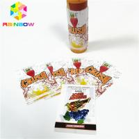 China Colorful Printed PVC PET Shrink Sleeve Labels Glass Bottle Cup Tube Labels Sticker on sale