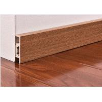 China Waterproof PVC Skirting Boards For Wall Base with Wooden Color wholesale