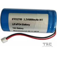3.2V LiFePO4 Battery IFR32700 6AH  Battery with Connector for Solar Lighting Manufactures
