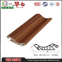 2017 Popular Hualun Guanse 100mm PVC Wall Ceiling Cornice Panels Decorative Plastic For Bathroom Manufactures