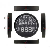 Universal Car HUD Head Up Display OBDII KMH / MPH Overspeed  Alarm Manufactures