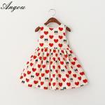 Angou New Summer Girls Dress Tutu Princess Baby Dress Dot girl clothing Casual Party dress Manufactures