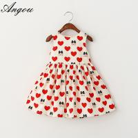 Quality Angou New Summer Girls Dress Tutu Princess Baby Dress Dot girl clothing Casual for sale