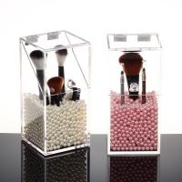 10*10*20cm Single Clear Acrylic Makeup Organizer With Turn Over Lid Manufactures