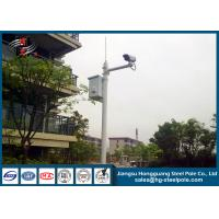 H10m Hot Dip Galvanized CCTV Camera Pole / Surveillance Camera Poles With Painting Craft Manufactures