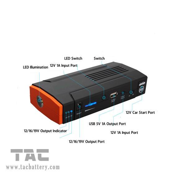 Multifunction Car Jump Starter for trip , 12000mah Li-polymer Battery starter