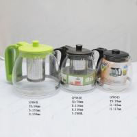 China Glass Teapot Coffee Pot with stainless steel infuser on sale