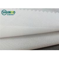 Full Tricot Warp Knitting Fusible Woven Interlining PA Wet Treatment Enzymes Washing Manufactures