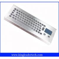 China IP65 Rugged Mini Industrial Desktop Keyboard Metal With Touchpad wholesale