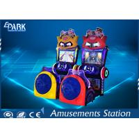 China Indoor Driving Arcade Cabinet / Game Machine For Kids 3 Lives Cartoon Style on sale