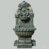 Green Marble Stone Carving Sculpture Wall Fountain , Garden Sculptures Stone Manufactures