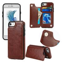 Back Cover IPhone Leather Wallet Case For Iphone 7 Plus Original Soft Magnetic