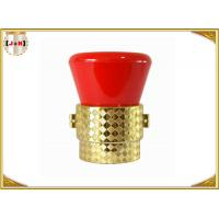 Zinc Alloy Metal Perfume Bottle Caps Diamond Shaped Fashion Design Free Sample Manufactures