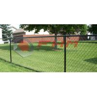 Chinese Manufacturer of Black Chain Link Fence Wholesale 50mm Hole Size 9 Gauge