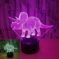 China Foreign trade new dinosaur 3D night light Colorful touch LED visual light Gift atmosphere LED stereo table lamp on sale