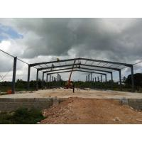 Gable Frame Metal Structure Building , Prefabricated Steel Structure Construction Manufactures