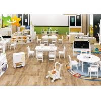 Economical Wooden Preschool Furniture Easy Cleaning Low Maintain Strudy Structure Manufactures