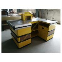Cosmetic Shop Counter / Supermarket Retail Checkout Counter With Stop Bar Manufactures