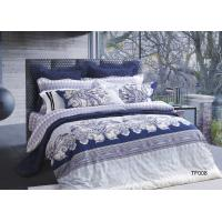 Durable Pima Cotton Sateen Bedding Sets Cotto USA Certification Blue Manufactures