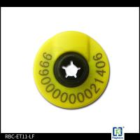Customerized Laser Printed EID Ear Tags Small Round Shape RFID Ear Tags For Livestock Pigs for sale