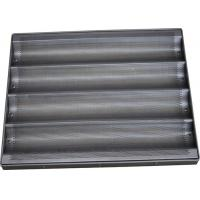 Teflon Coated Bread Baking Tray , Stainless Steel Baguette / Hot Dog / Muffin Trays Manufactures
