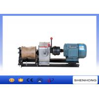 Electric Engine Cable Powered Pulling Winch By Shafted Driven 10KN Manufactures